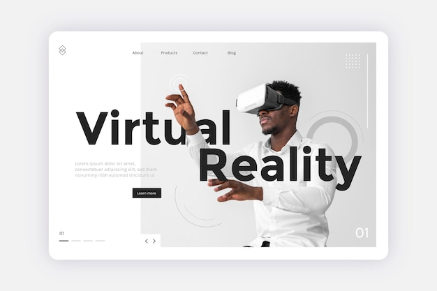 Virtual-reality-konzept - zielseite Kostenlosen Vektoren