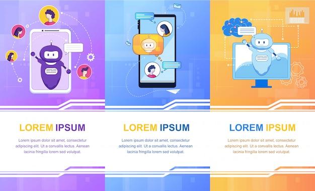 Virtueller assistent intelligente künstliche intelligenz Premium Vektoren