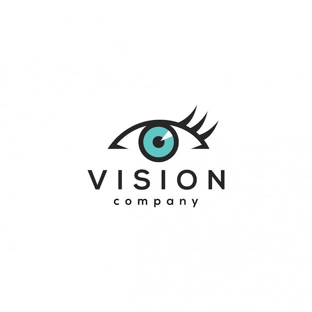 Vision logo konzept, auge entwurfsvorlage. Premium Vektoren