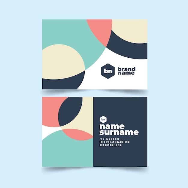 Visitenkarte abstrakte vorlage sammlung Kostenlosen Vektoren