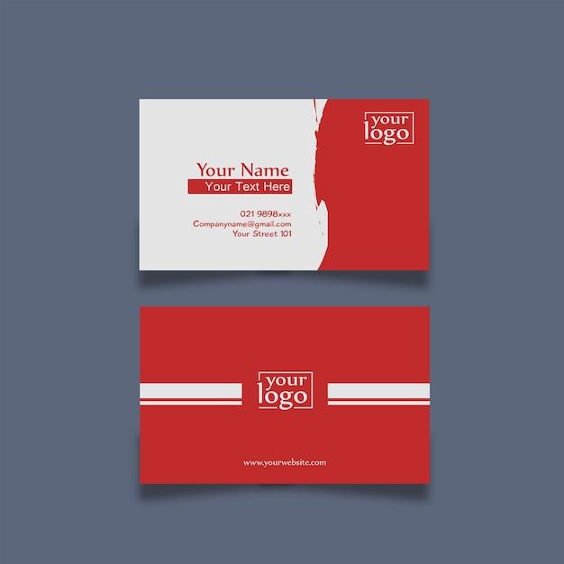 Visitenkarte Design Simpel Rot Premium Vektor
