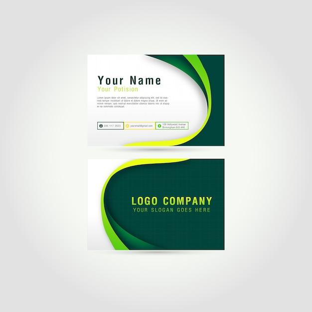 Visitenkarte design Premium Vektoren