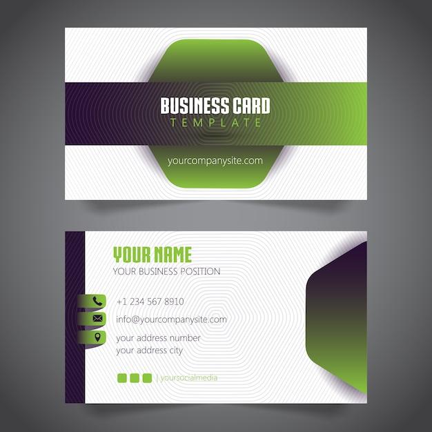 Visitenkarte Einfacher Minimalist Vektor Vorlage