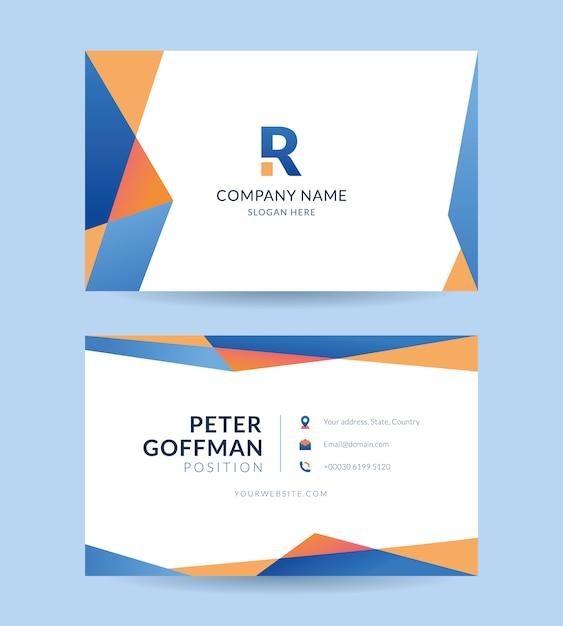 Visitenkarte firma vorlage Premium Vektoren