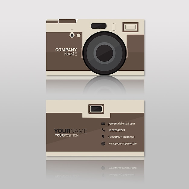 Visitenkarte Fotograf Premium Vektor