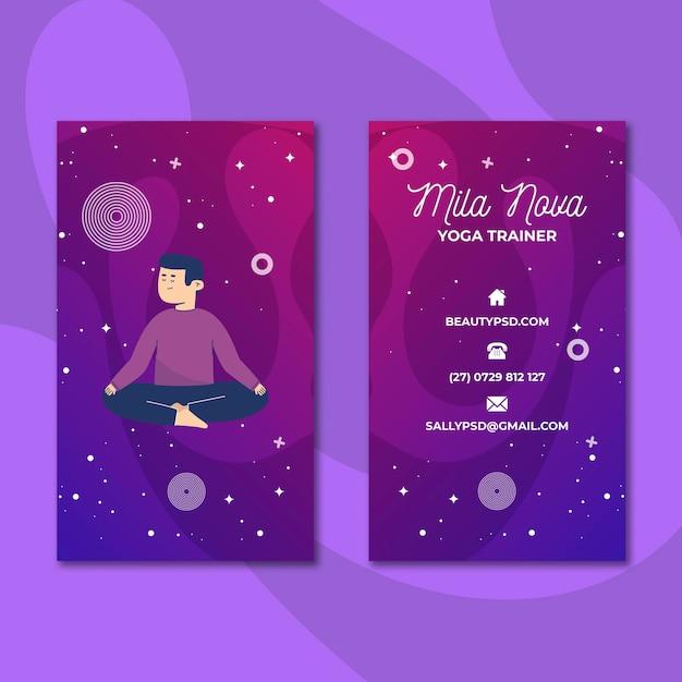 Visitenkarte für meditation und achtsamkeit Kostenlosen Vektoren
