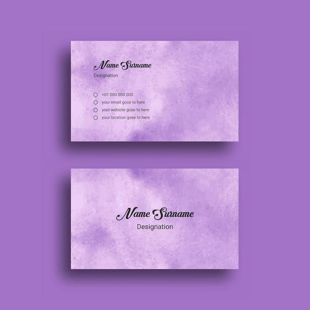 Visitenkarte, mit abstrakter splash aquarell hintergrund design vorlage Premium Vektoren
