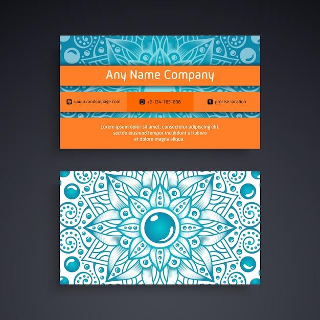 Visitenkarte mit dekorativen elementen der weinlese Kostenlosen Vektoren