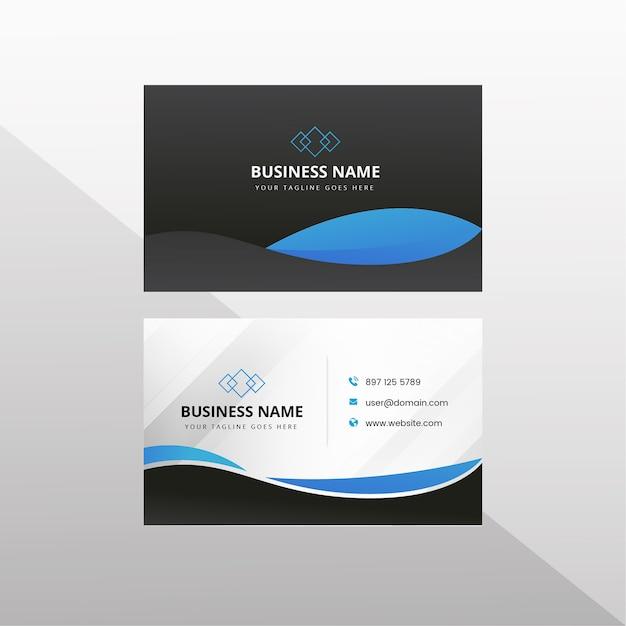 Visitenkarte mit dunklem hintergrund Premium Vektoren