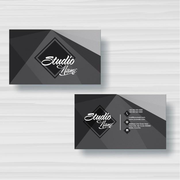 Visitenkarte Mit Geometrischen Formen In Grautönen Premium