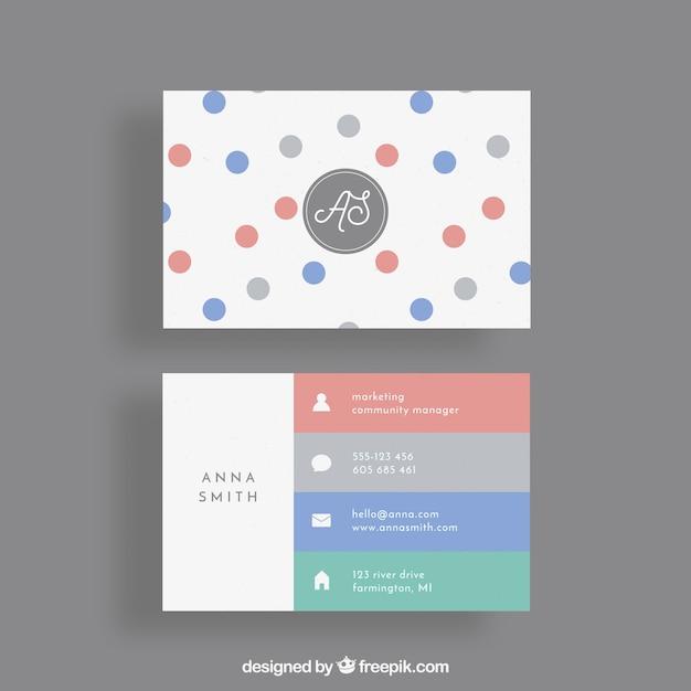 Visitenkarte Mit Kreisen Und Bunten Streifen Kostenlose Vektoren