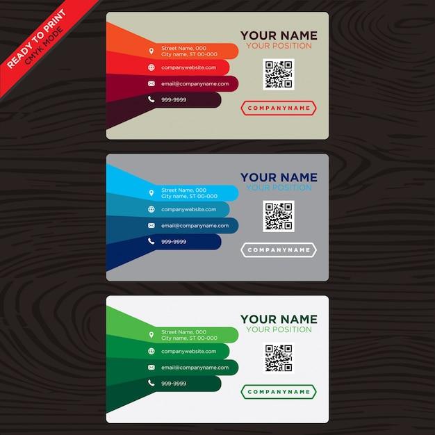 Visitenkarte mit Multitone Bars Kostenlose Vektoren