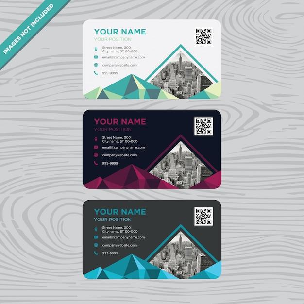 Visitenkarte mit piramid Form Kostenlose Vektoren