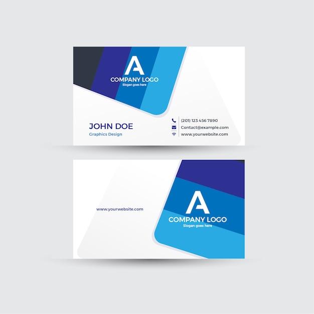 Visitenkarte mit weißem hintergrund Premium Vektoren