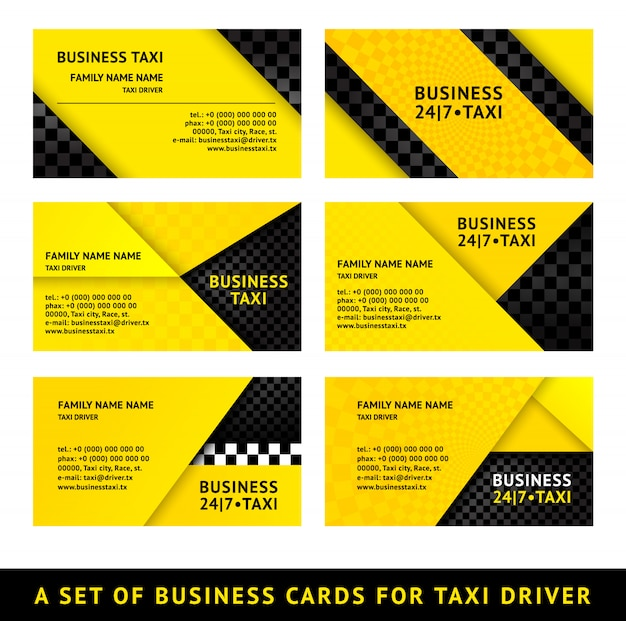 Visitenkarte taxi Premium Vektoren