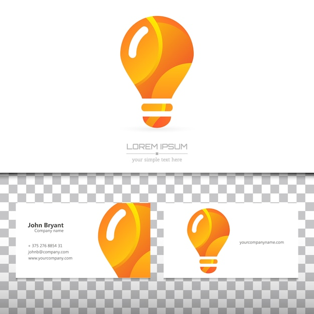 Visitenkarte und logo Premium Vektoren