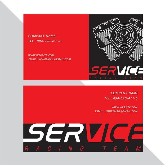 Visitenkarte vektor design und rennen sport. Premium Vektoren