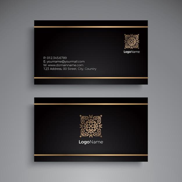 Visitenkarte. vintage dekorative elemente. dekorative blumen visitenkarten oder einladung mit mandala Kostenlosen Vektoren