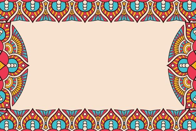 Visitenkarte. vintage dekorative elemente. zierblumen-visitenkarten, orientalisches muster, illustration Kostenlosen Vektoren