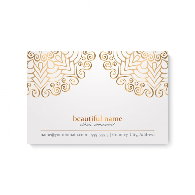 Visitenkarte. vintage dekorative elemente Premium Vektoren