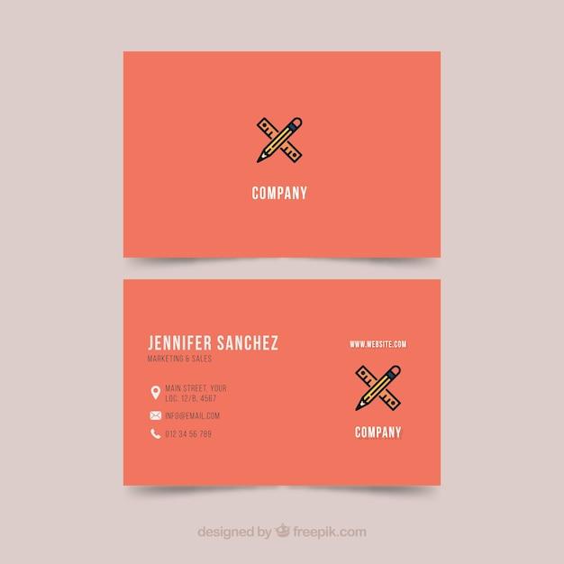 Visitenkarte Vorlage Illustrator Kostenlose Vektor