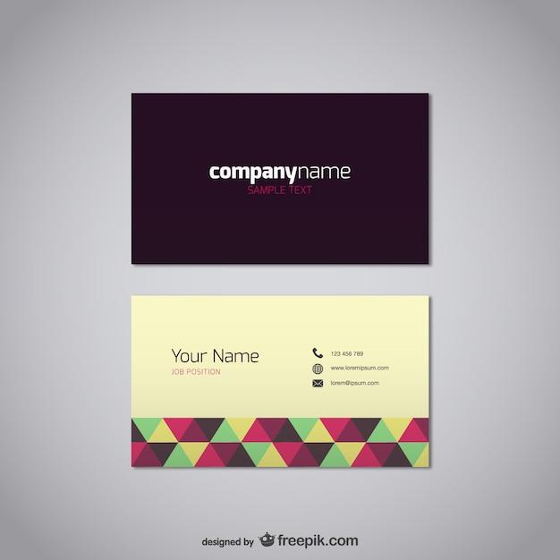 Visitenkarte Vorlage Kostenlos Vektor Download Der