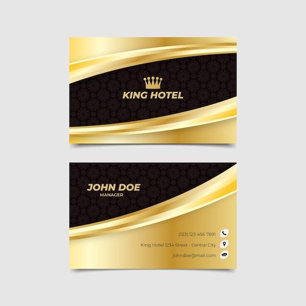 Visitenkarte vorlage luxus Kostenlosen Vektoren