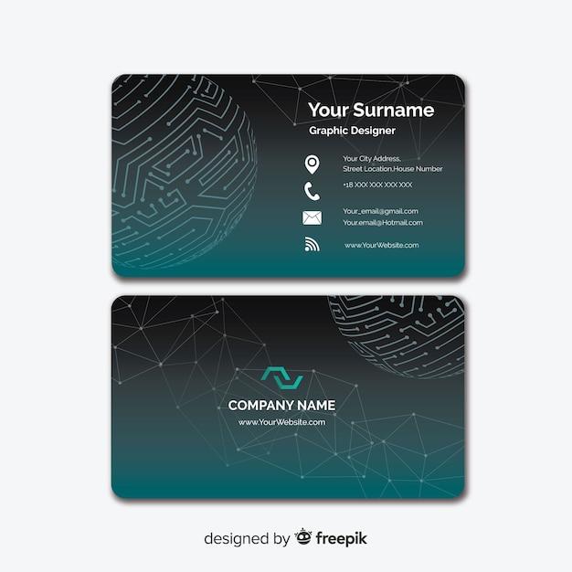 Visitenkarte Vorlage Kostenlose Vektor