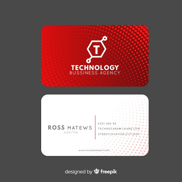 Visitenkarte-vorlage Kostenlosen Vektoren