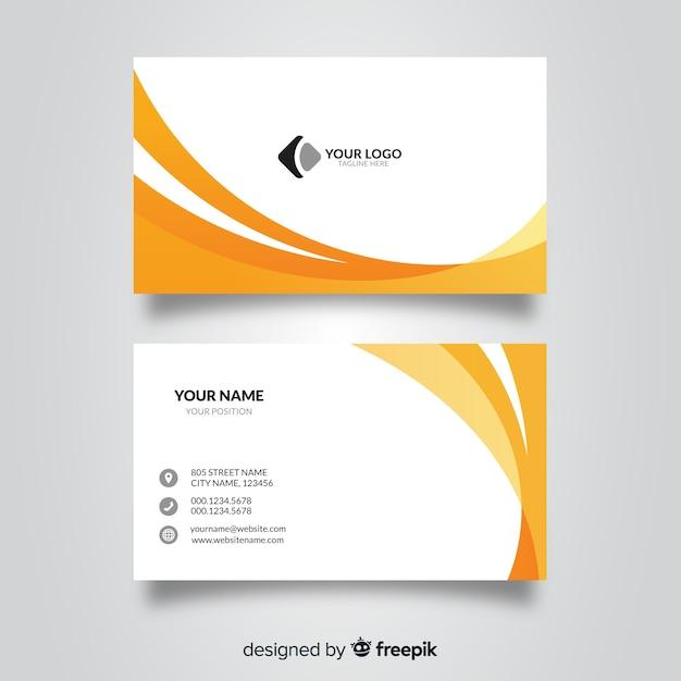 Visitenkarte Vorlage Download Der Kostenlosen Vektor