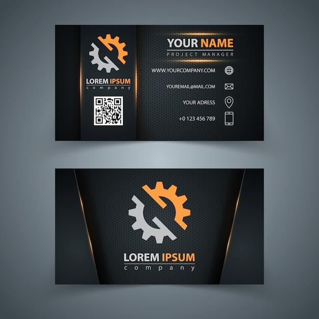 Visitenkarte-vorlage Premium Vektoren