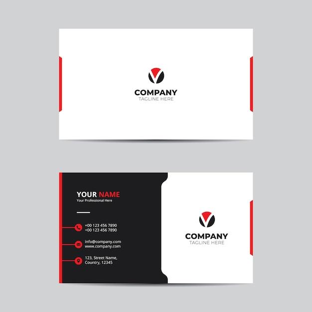 Visitenkarte vorlage Premium Vektoren