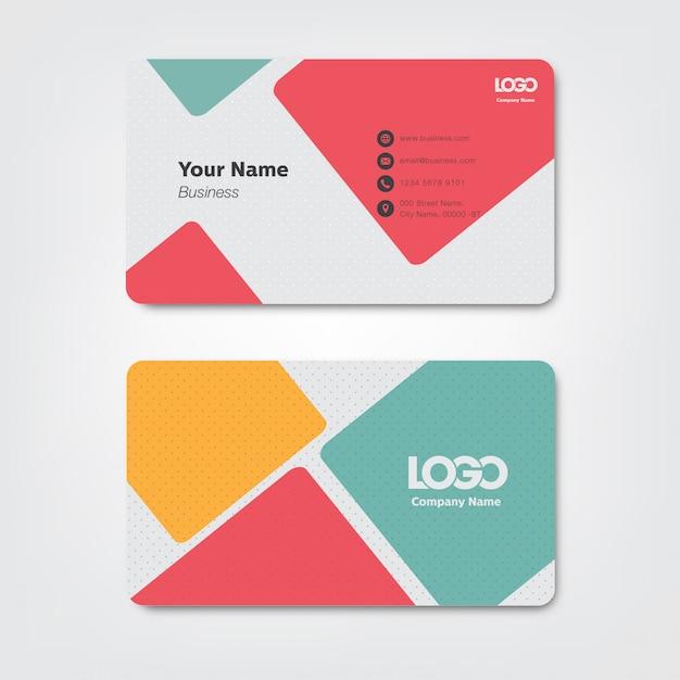 Visitenkarte Premium Vektoren