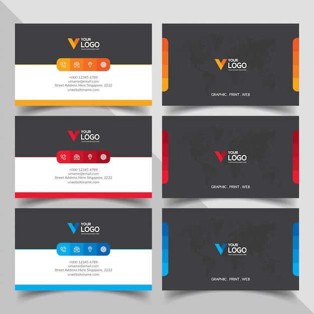 Visitenkarten-design Kostenlosen Vektoren