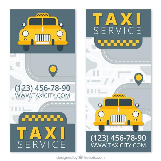Visitenkarten Für Ein Taxiunternehmen Kostenlose Vektor