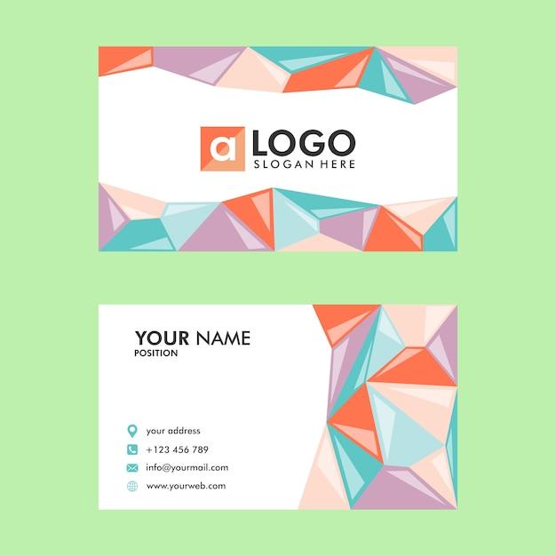 Visitenkarten Vorlage Design Niedrig Poly Download Der