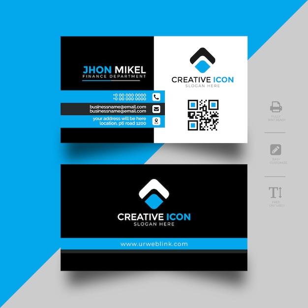 Visitenkartenvorlage für unternehmen Premium Vektoren