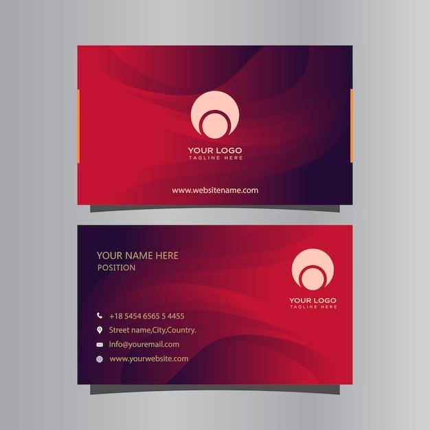 Visitenkartenvorlage mit farbverlauf Premium Vektoren