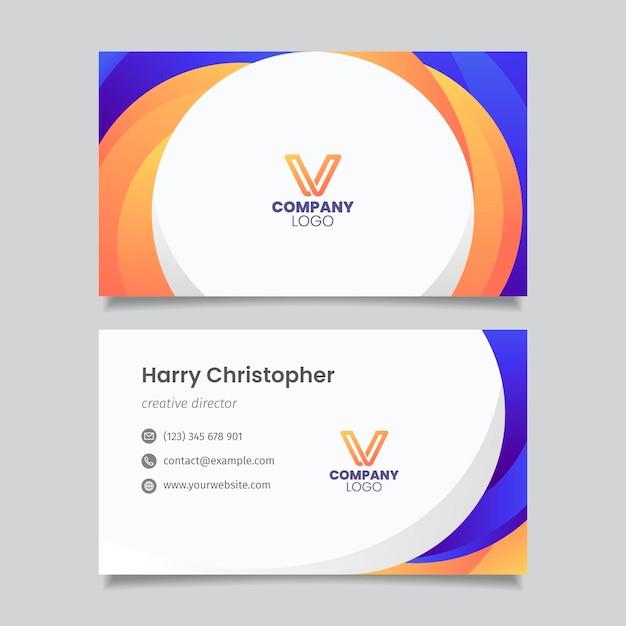 Visitenkartenvorlage Premium Vektoren