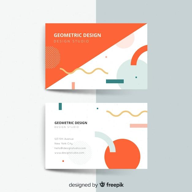 Visitenkarteschablone mit abstrakten formen Kostenlosen Vektoren