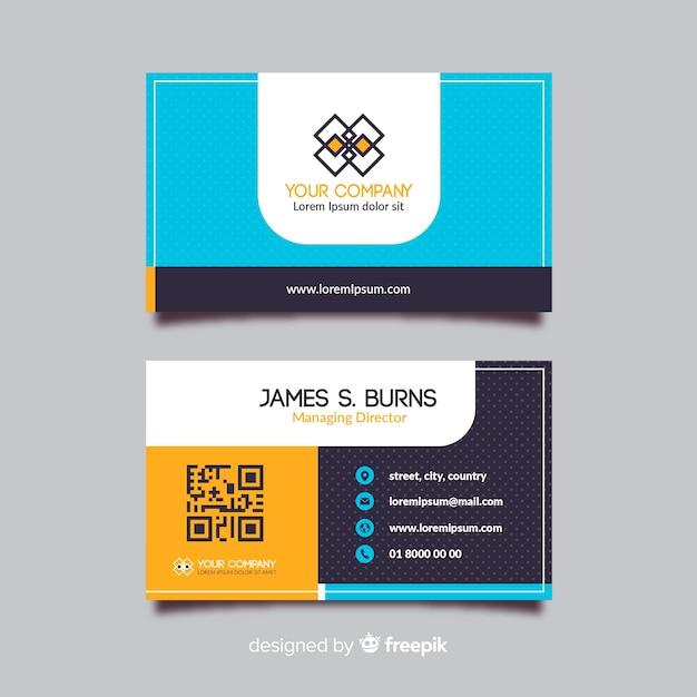 Visitenkarteschablone mit abstrakter form Kostenlosen Vektoren