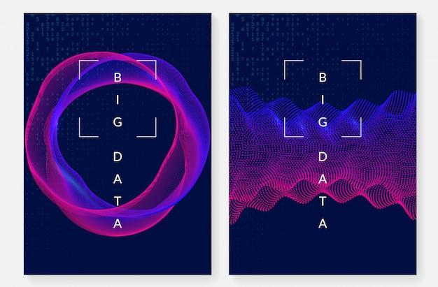 Visualisierung cover design. technologie für big data Premium Vektoren