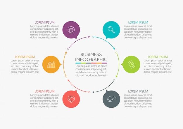 Visualisierung von geschäftsdaten. zeitleiste infografik Premium Vektoren