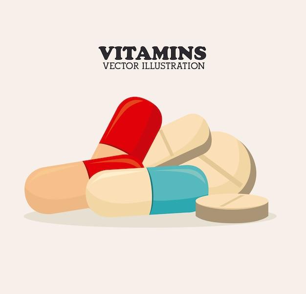 Vitamine design Premium Vektoren