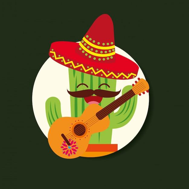 Viva mexico feier Premium Vektoren