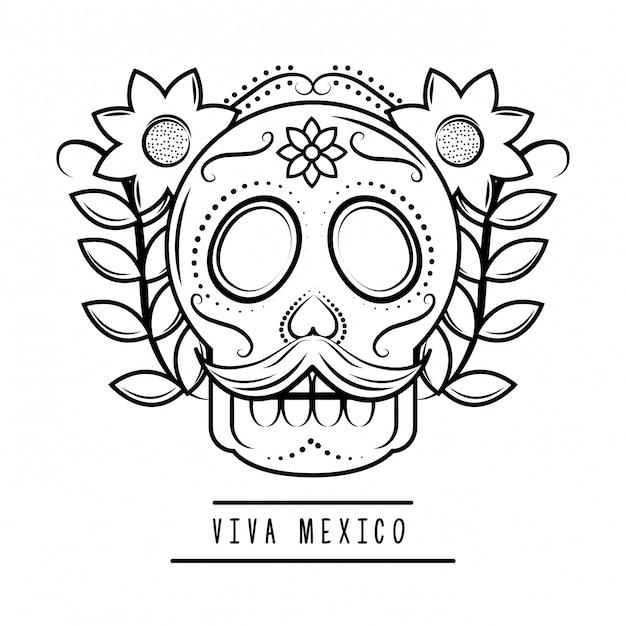 Viva mexico traditionelle karte Premium Vektoren