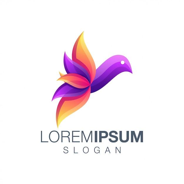 Vogel farbverlauf logo design Premium Vektoren