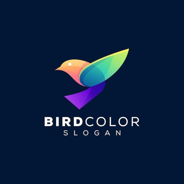 Vogel farbverlauf logo logo design Premium Vektoren