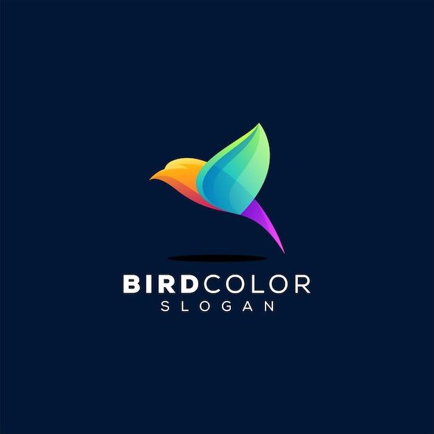 Vogel farbverlauf logo Premium Vektoren
