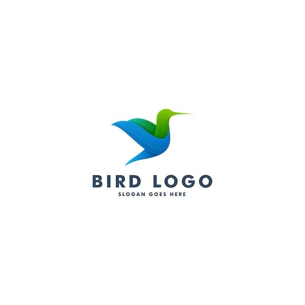 Vogel-logo-design, tierikonen-symbol-vektorillustration Premium Vektoren